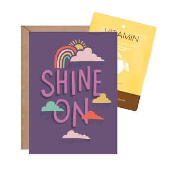 'Shine On' Facial Card