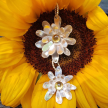 Mai 2-flower sterling daisy necklace