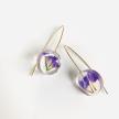 Botanical Mini Full Moon Statice Flower Earrings