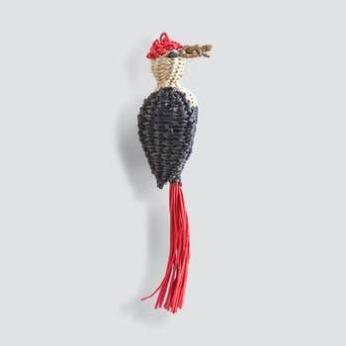 Noël Carpintero-Woodpecker Bird Holiday Ornaments