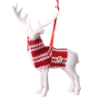 Reindeer in Red Sweater Hanging Ornament