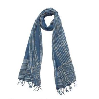 Blue Nautical Cotton Scarf