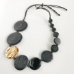Eco-Resin Textured Circle Naran Statement Necklace