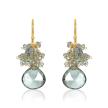 Moss Aquamarine Cluster Earrings