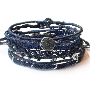 Ocean Blue Earth Bracelet - Set of 7