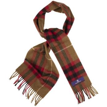 Prince of Scots Heritage Plaid Fringed Merino Wool Scarf (Cambridge Camel)