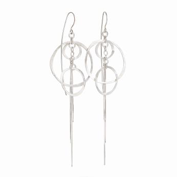 Orbit Chain Dangle Earrings