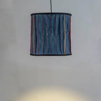 Stitched Washable Paper Lamps (Blue )