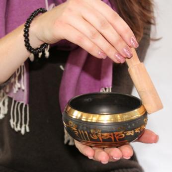 Carved Brass Singing Bowl