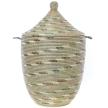 Silver Swirl Large Laundry Hamper Storage Basket