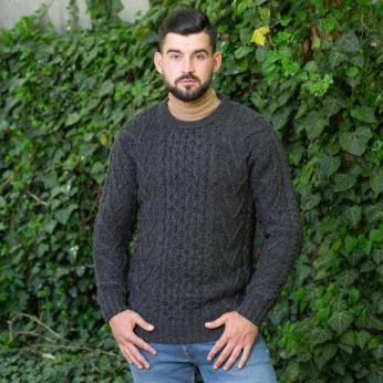 Men's Merino Aran Sweater