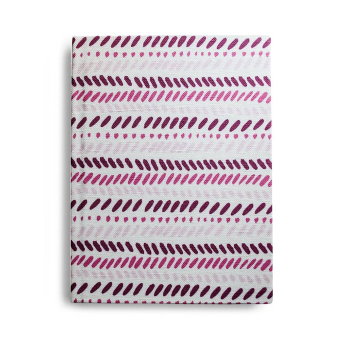 Slash Mark Stripe Journal in Pink & Berry, unlined blank pages