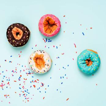 Doughnut Socks - Aqua Sprinkles