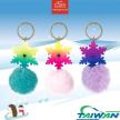 Snowflake Pom-Pom Keychain/ Keyring/ Key Holder