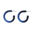 Every Day Milanese Mesh Hoop Earrings - Black & Blue Nebula