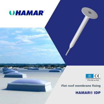 HAMAR® IDP Fasteners for flexible roof waterproofing membrane fixing
