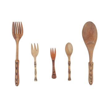 Palatial wooden spoon set