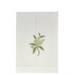 Elderflower Linen Guest Towel White
