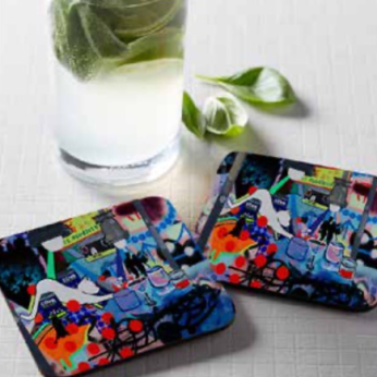 After Hours Cork Backed Coasters