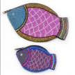 Hand-Beaded Fish Pouch