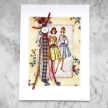 Vintage Simplicity pattern greeting card