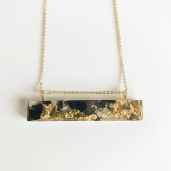 Eco-Resin Cast MD Palito Charm Necklace