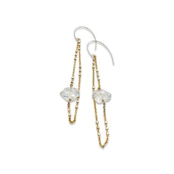 Herkimer Diamond Layered Earrings