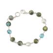 blue topaz & labradorite bracelet