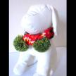 Doggie Reindeer Pompom Scarf