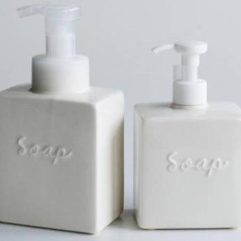 Foam/Soap bottle - Ivory Block shape