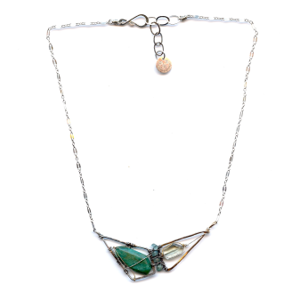 Amazonite and Green Amethyst Gemstone Necklace