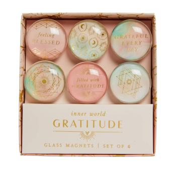 Gratitude: Glass Magnet Set (Set of 6)