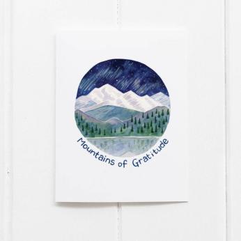 Mountains of Gratitude Card