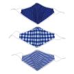 Set of 3 Blue Fashion Masks