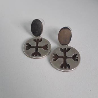 Kultrun Symbol Earrings eged