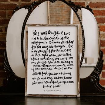 Motivational Wood Framed Signs