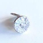 Stainless steel mini earrings – White