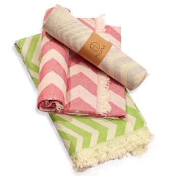 Mersin Bohemian Pattern Turkish Towel - Gray
