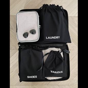 BA Traveler Organizing Bags Black 4-pack, 1