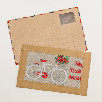 Embroidery Post card