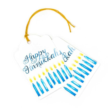 Happy Hanukkah Gift Tags, Set of 10