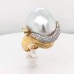 Baroque South Sea Pearl Diamond Ring