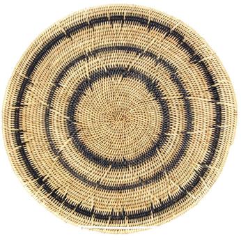Makenge Root Wedding Baskets from Zambia - Black Rings