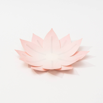 Flexible Hanji paper tray - Water lily