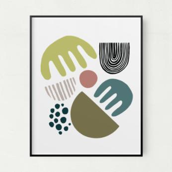 Asymmetrical Unframed Art Print