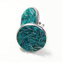 Stainless steel mini earrings – GREEN