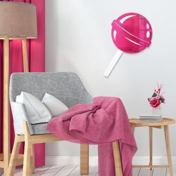 Lollipop | Acrylic Mirror Finish Wall Art | Playful, Pretty, Bold Vibes