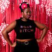 Boss Bitch Embellished Crop Top
