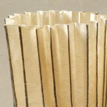 Leatherized Paper Stitched Vase (Natural) - LARGE
