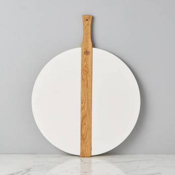 White Round Italian Pizza Board, Large